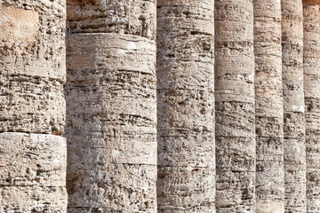 Columns of greek temple of Segesta, Sicily