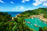 Fototapety Portofino village on Ligurian coast, Italy