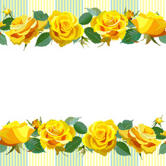 Floral Background with yellow roses