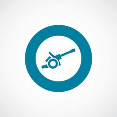 cannon icon bold blue circle border