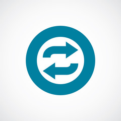 auto play icon bold blue circle border