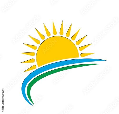 Sun and sea logo