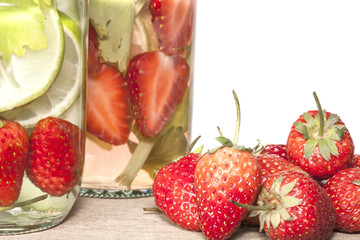 strawberry Infused water  ,refreshment for health.