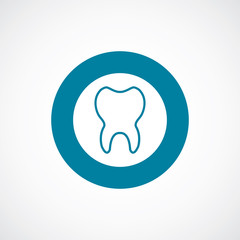 tooth icon bold blue circle border