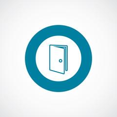 door icon bold blue circle border