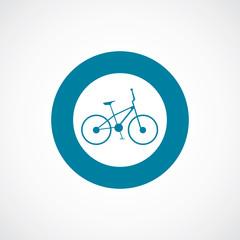 bike icon bold blue circle border.