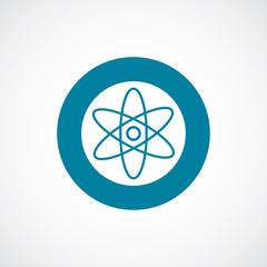 atom icon bold blue circle border
