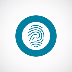fingerprint icon bold blue circle border