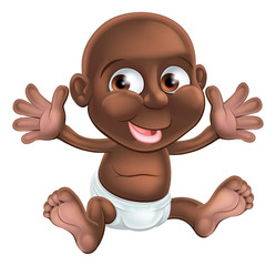 Cute happy cartoon baby
