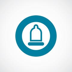 condom icon bold blue circle border