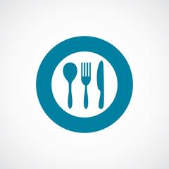cutlery icon bold blue circle border