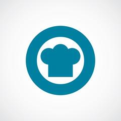 chef hat icon bold blue circle border.
