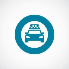 taxi icon bold blue circle border