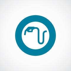 petrol service icon bold blue circle border