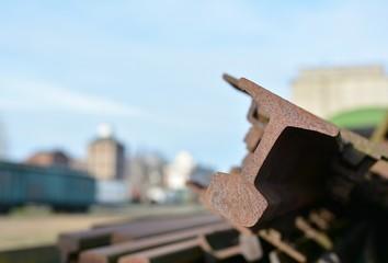 verrostete Eisenbahnschienen