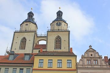 Lutherstadt Wittenberg: Turmpaar der Stadtkirche (16. Jh.)