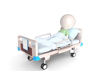 Patient in bed