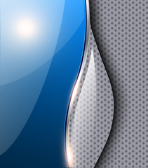 Abstract blue background glossy
