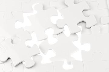 puzzle blanc sur fond blanc