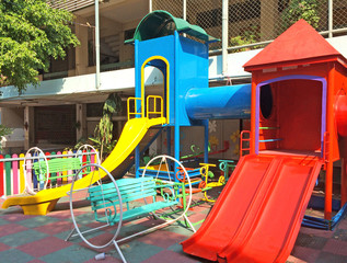 Children Playground in Thailand School Background Texture