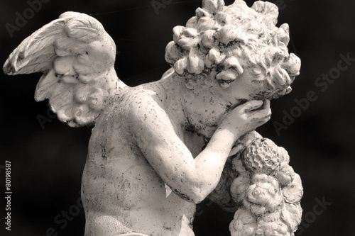 Leinwanddruck Bild crying cemetery angel