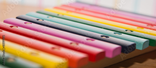 colorful wooden xylophone - 80199185