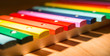 colorful wooden xylophone - 80199537