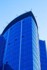 Skyscraper against a cloudless sky