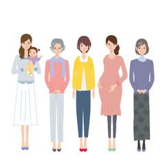 女性 世代 複数