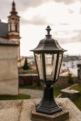 Lantern closeup about Church of Annunciation and Marian