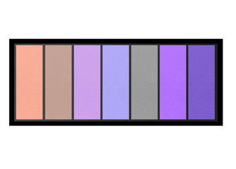set of pastel eyeshadows isolated on white background