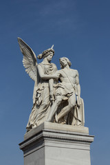 Angel Statues - Helping wounded / sick Partner / Friend