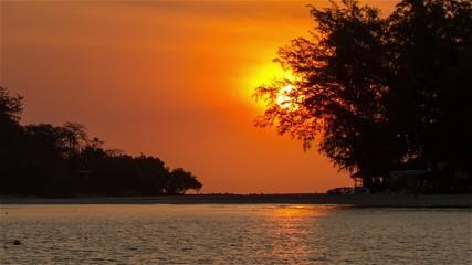 Sunrise on sea coast