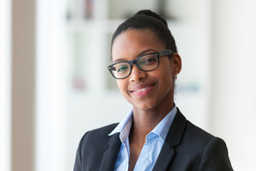 Portrait of a young African American business woman - Black peop