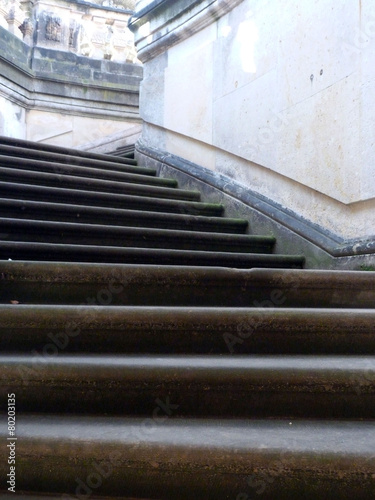 Leinwanddruck Bild Treppe Zwinger Dresden