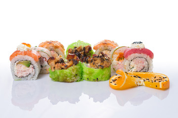 sushi set with diferent type of fish