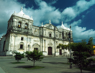 Cathedral of Leon Nicaragua Central America Central Park