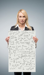 poster with mathematics equations