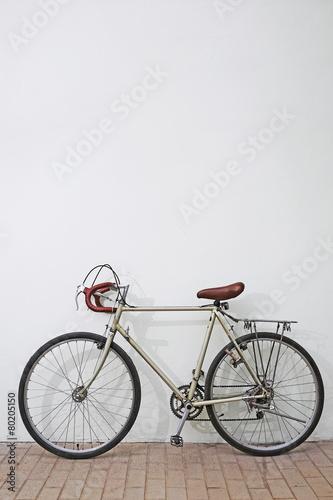 Fotobehang Wielersport Bicycle Classic White