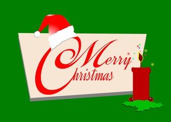 merry christmas card retro style