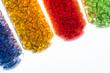 transparentes Kunststoff Granulat in Glasröhrchen - 80205757