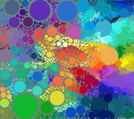 Background of geometric colored circles