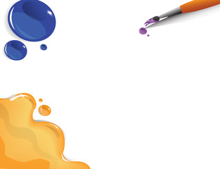 Graphics background water color brush drop