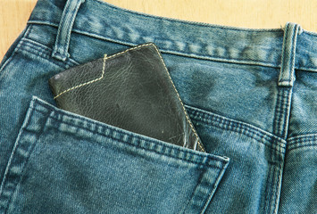 blue jeans back pocket