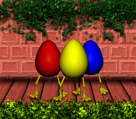 Easter Eggs with Legs