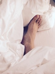 foot and blanket