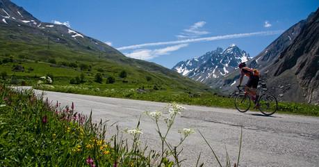 Vélo sur la route du galibier