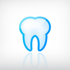 vector tooth dental icon