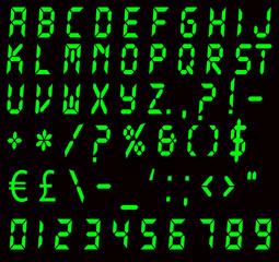 Digital Green Alarm Font