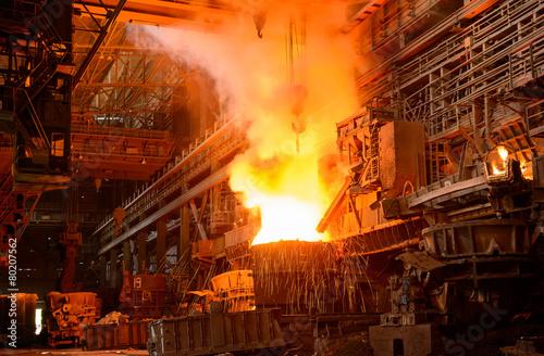 Staande foto Industrial geb. steel plant